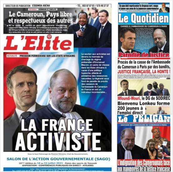 Quand le régime dictatorial de Yaoundé traite la justice française de justice aux ordres