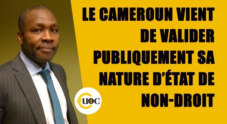 Le Cameroun valide publiquement sa nature d'État de non-droit
