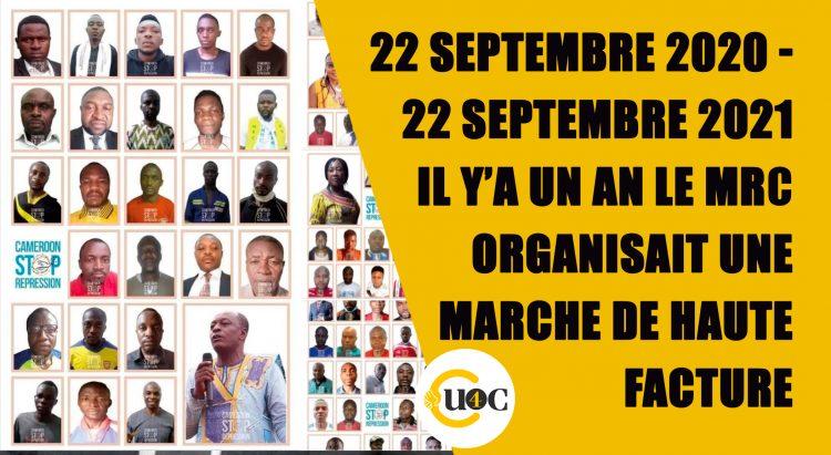 22 septembre 2020 – 22 septembre 2021 : il y a un an le MRC organisait une marche de haute facture