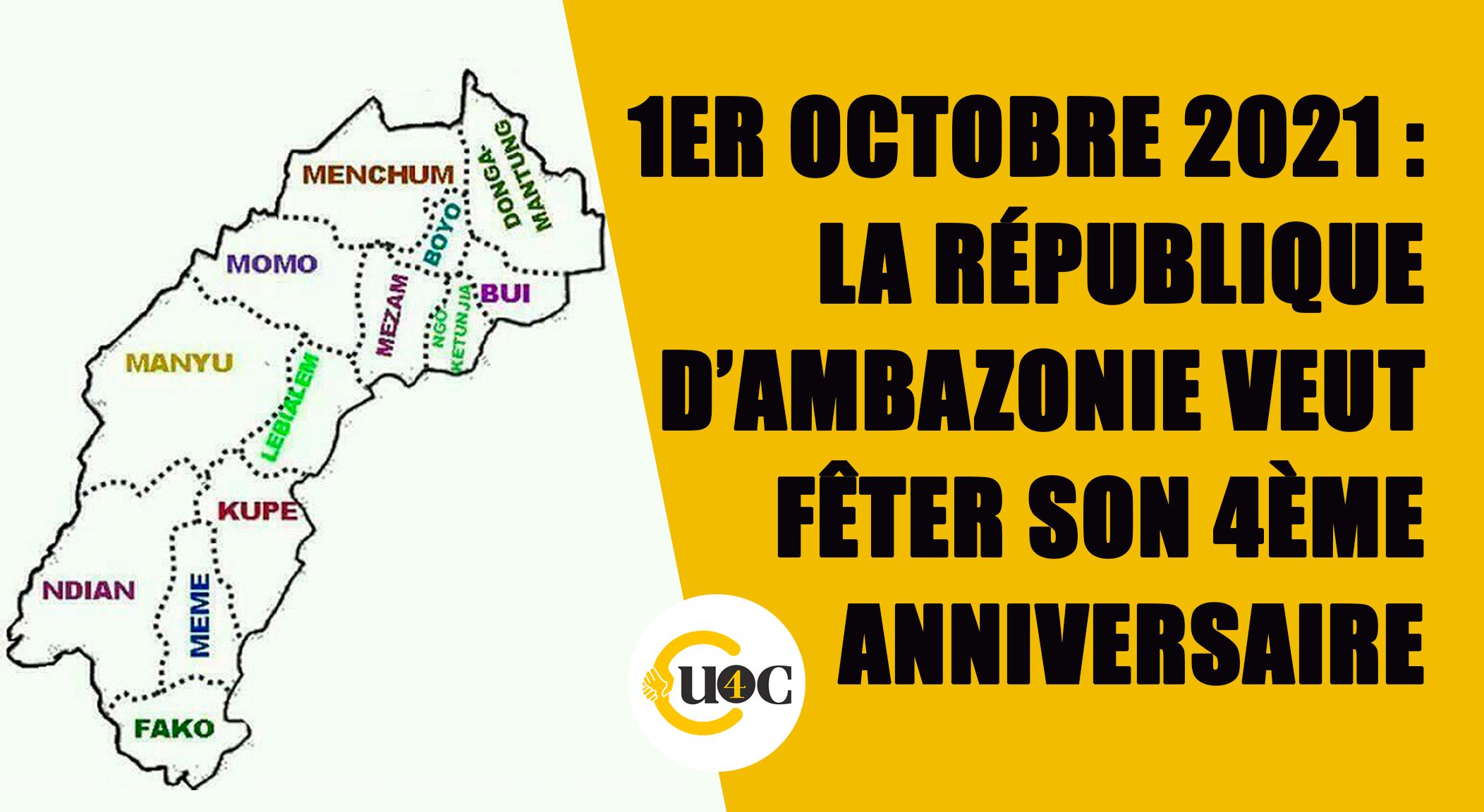 1er Octobre 2021 : la république d'Ambazonie veut fêter son 4ème anniversaire