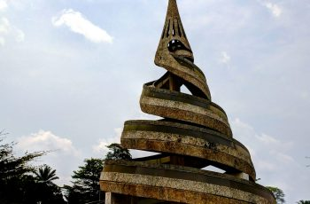 Exterior view to the Reunification Monument at Yaounde, Cameroon